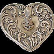 Heart Ring Holder Silverplate