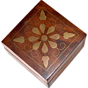 Wood Box with Gilt Old and Unusual