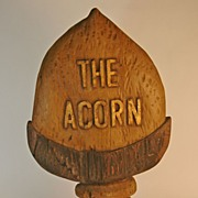"""The Acorn"" Wooden Trade Sign"