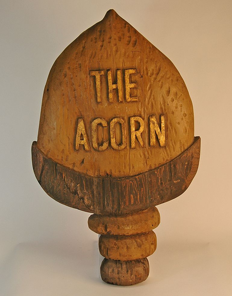 """""""The Acorn"""" Wooden Trade Sign"""