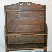 Graceful Early Pine Bucket Bench