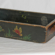 Paint Decorated Wooden Window Box