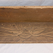 Grain Painted Shelf with Bird Motif