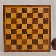 Inlaid Wooden Checker Board