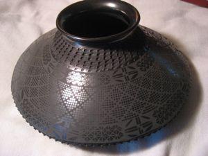 Mata Ortiz Black Incised Pottery by Miguel Bugarini