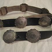 Sterling Silver Vintage Concho Belt by Navajo Artist Albert Platero
