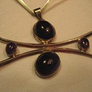 Sterling Silver & Amethyst Vintage Collar Necklace