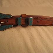Sterling Silver & Turquoise Ranger Set