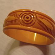 Bakelite Carved Butterscotch Vintage Bracelet