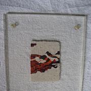 Hand Loomed Weaving Framed In Acrylic