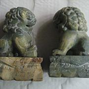 Foo Dogs Vintage Green Swirl Marble