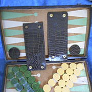 Bakelite Backgammon Set In Case