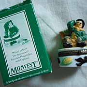 Wizard of Oz Ceramic Scarecrow Hinged Box