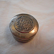 Sterling Silver Mayan Calendar Pill Box