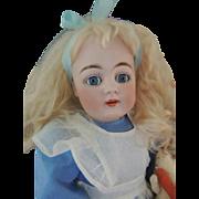 Kestner #160 Alice in Wonderland, Antique German Bisque Doll 18 1/2 IN