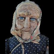 Bernard Ravca Doll France Woman Ca. 1930's, Cloth Stockinette Doll, Paris, 23 IN