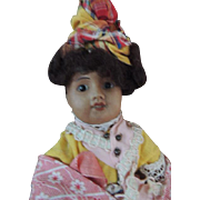 Unis France 60 Antique French Bisque Doll 11 3/4 IN All Original, Brown Bisque