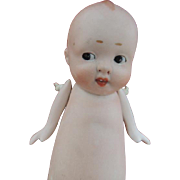 Antique German All Bisque Doll, 5 1/2 IN, Side-Glancing Eyes