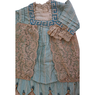 Antique Silk French Doll Dress, Size 12/13, Antique Doll Dress, from Paris!