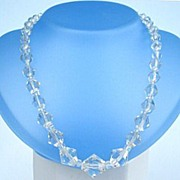 Vintage Genuine Austrian Crystal Choker Necklace Single Strand