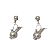 Spratling Vintage Silver Pitcher Earrings Mexican