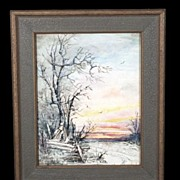 Exceptional Early 20th Century Landscape Signed Sena Martin, Great Period Frame