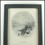 H. Wallis Line Engraving St. Patrick's Bridge