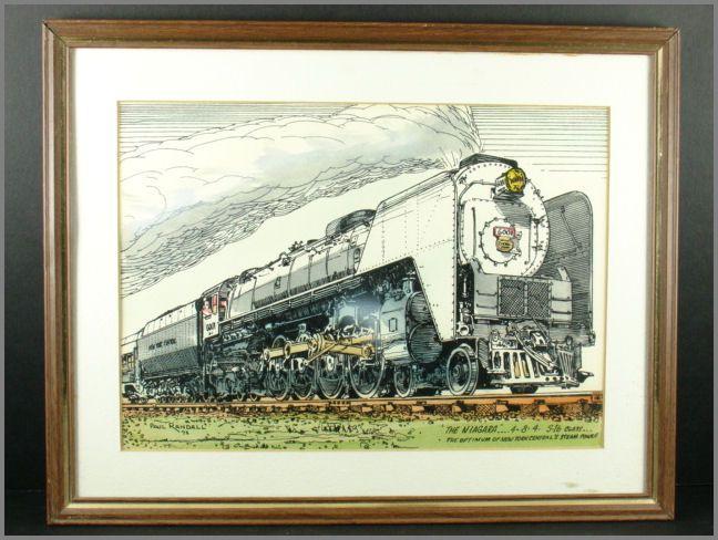"""Paul Randall Railroad Print """"The Niagara"""" Ca. 1972"""