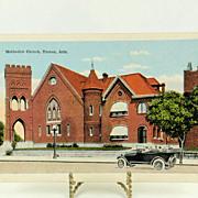 Vintage Post Card Methodist Church Tucson Arizona c. 1918