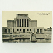 Hawaii and South Seas Curio Co. Post Card of Mormon Temple at Laie