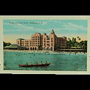 Island Curio Company Territory of Hawaii Royal Hawaiian Hotel Post Card