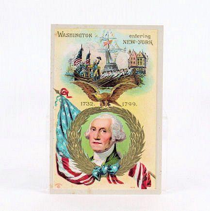 P. Sander Washington Entering New York Embossed #414 Post Card