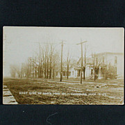 Vicksburg, Michigan East Side of North Main Street RPPC
