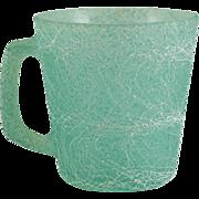 Colorcraft Spaghetti or String Glass Mug in Green