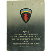 Eisenhower Report by The Supreme Commander