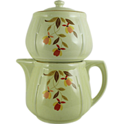 Hall's Autumn Lead Jordan All China 5 Cup Coffee Pot
