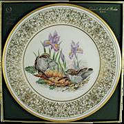 SALE Lenox Limited Edition Boehm Birds Plate c. 1979 Golden Crowned Kinglet  (ON SALE)