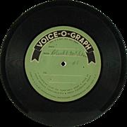 SALE Voice-O-Graph International Mutoscope Vinyl Disc (SALE)