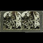 SALE Keystone View Stereograph of Six American Aviators