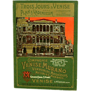 SALE Vintage Murano Glass Tour Brochure Compagne Venise Murano  (ON SALE)