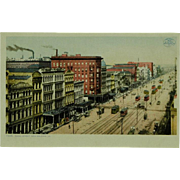 Canal Street New Orleans Phostint by Detroit Photographic Co.