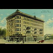 San Antonio Texas Crockett Hotel Post Card
