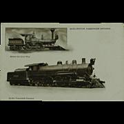 Burlington Route Passenger Engines Undivided Back  Post Card