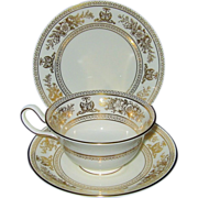 SALE Wedgwood - Gold Columbia - Teacup Trio