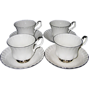 Royal Albert - Chantilly Teacup Sets (4)