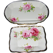 Royal Albert - American Beauty - Butter Tray & Candy Dish