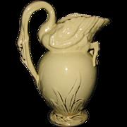 SALE Antique Staffordshire - Swan Pitcher - ca1881