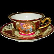Royal Vienna - Garden Scene w/Golden Filigree - Teacup Set