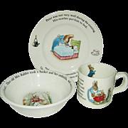 Wedgwood - Peter Rabbit - Bowl, Mug & Plate