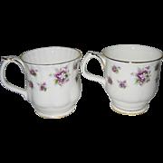 Royal Albert - Sweet Violets - Coffee Mugs (2)